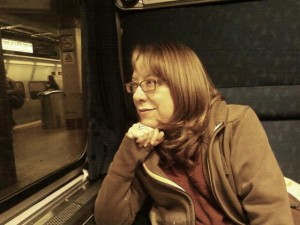 HILARY ON THE TRAIN