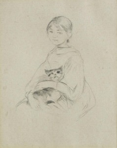 (33) MORISOT FILLETTE AU CHAT (JULIE MANET)