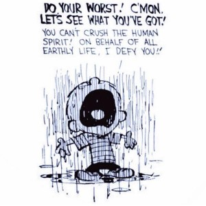CALVIN IN THE RAIN