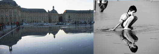 Aesthetic grounds water mirror by corajoud in bordeaux for Mirror pool bordeaux