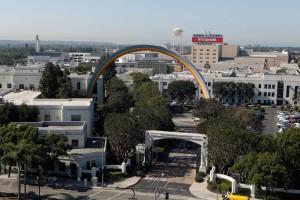 Rainbow Arch by Tony Tasset, Sony Studios, Culver City, CA, 2012