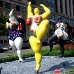 Niki de Saint Phalle's Three Grace installed on Park Avenue in 2012