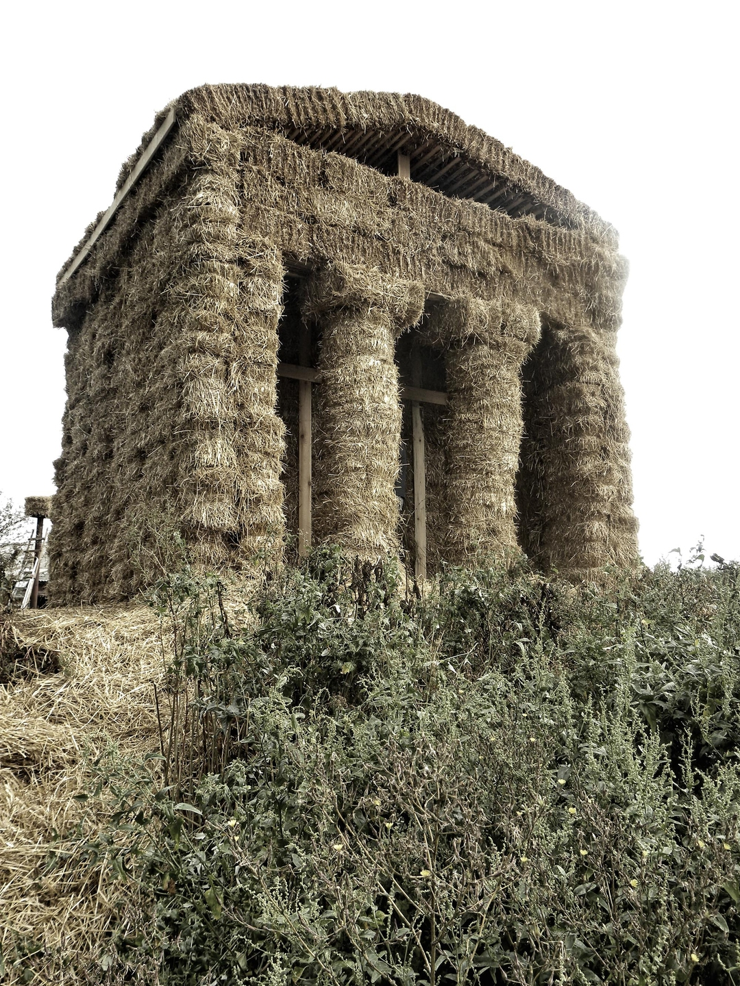 Straw Temple in Russia.