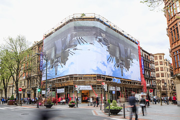 Mike Bouchet and Paul McCarthy,  Billboard in Bilbao, Spain, 2014