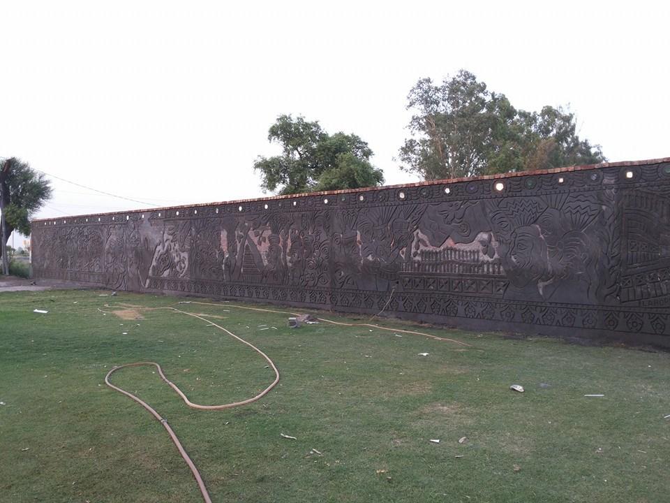 Suresh K Nair, Border Wall, 2014