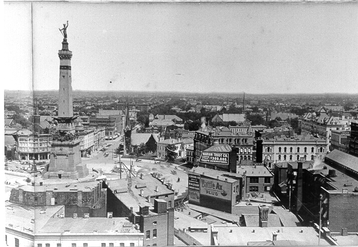 Indiana State Soldiers and Sailors Monument, 1888 to 1901
