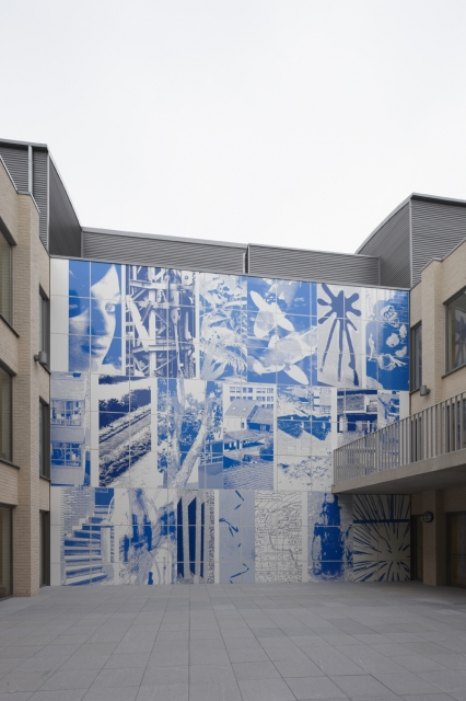Photographer Jan Kempenaers first public mural, 2013