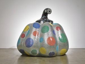 Yayoi Kusama, Starry-pumpkin-silver, 2014