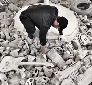 Daniel Arsham at Locust, Miami, 2014
