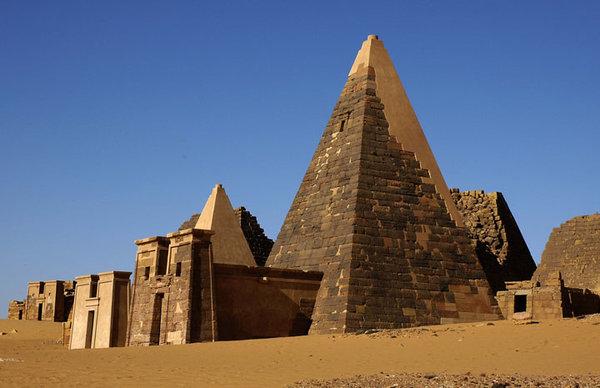 Meroe Pyramids in Sudan.