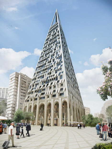 Pyramid-Tower_Daniel-Libeskind, Approved for Jerusalem
