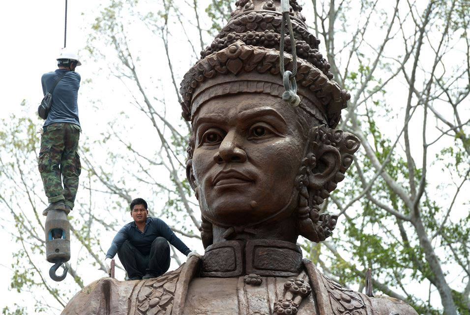King Narai of Ayutthaya sculpture in Thailand, 2015