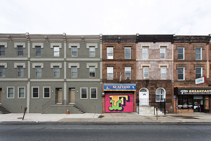 London artist Ben Eine in  Philly