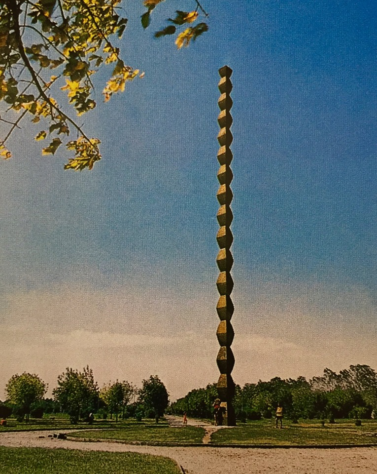1938 Endless Column by Brancusi in Rumania