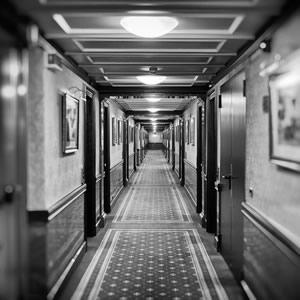 Doorways in a hall.