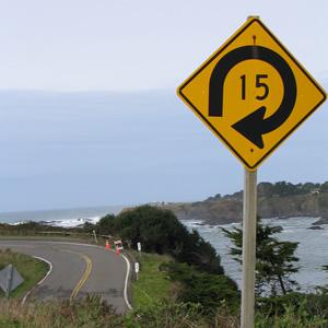 15 MPH Road Sign