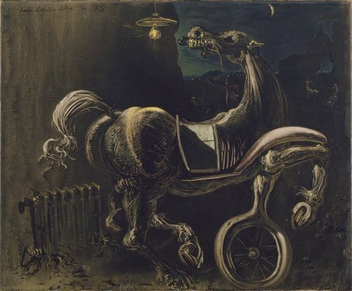 Debris of an Automobile Giving Birth to a Blind Horse Biting a Telephone1938.jpg