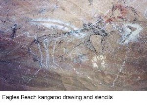 Eagles Reach Cave Aboriginal Cave Art 2000 BC