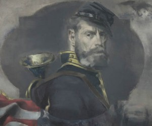 Dickinson, Self-Portrait in Uniform, 1942. Courtesy Babcock Gallery