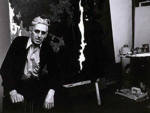 Clyfford Still in his N.Y. studio, 1959-52. Unknown photographer.