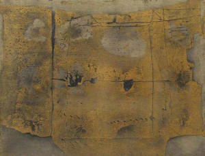 Antoni Tapies: Great Painting, 1958. Oil and sand on canvas.