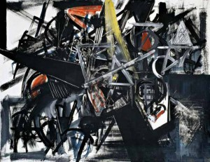 "Emilio Vedova, ""Image of Time (Barrier),"" 1951."