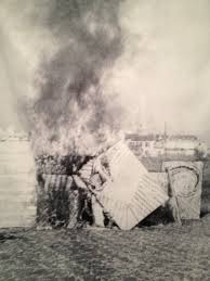 Shuji Mukai: Happening--- Burning All My Works, 1969.