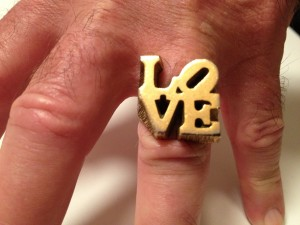 LOVE Ring, 1970's. By anonymous manufacturer.