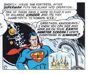 Superman waxes nostalgic.