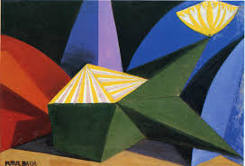 Still from digital recreation of Giacomo Balla: Fireworks. 1914