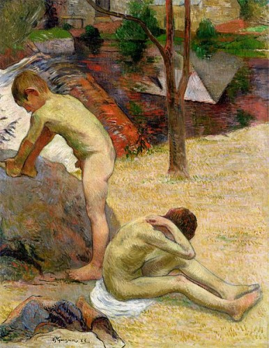 """Beton Boys Bathing,"" Paul Gauguin, 1888."