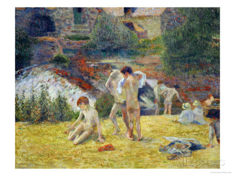 """Boys from Brittany Bathing,"" Paul Gauguin. 1886."