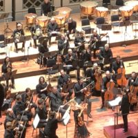 Photo of Anne-Sophie Mutter with Cincinnati Symphony Orchestra