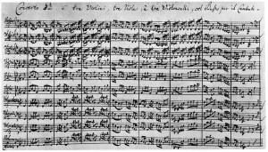 Brandenburg Concerto autograph
