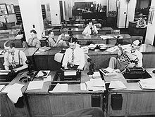 New_York_Times_newsroom_1942-1