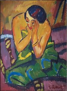 """Reflective Woman,"" Karl Schmidt-Rottluff"