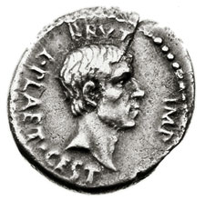 Loaned to the Met: Silver denarius with the head of Brutus, commemorating the murder of Julius Caesar on the Ides of March