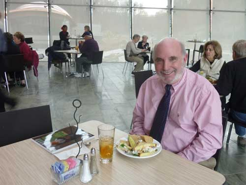 Chris Crosman, founding curator, in the museum's restaurant