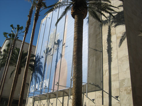 """BCAM Born"": Exterior of LACMA's Broad Contemporary Art Museum at the time of its February 2008 opening Photograph by Lee Rosenbaum"