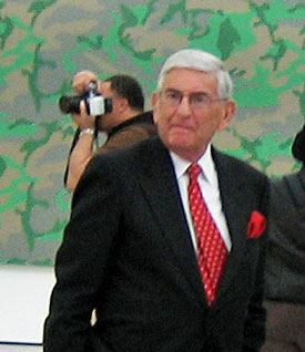 Eli Broad at the 2008 press preview of LACMA's Broad Contemporary Art Museum Photo: Lee Rosenbaum