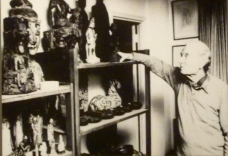 Collector Paul Singer in his object-crammed apartment in Summit, NJ