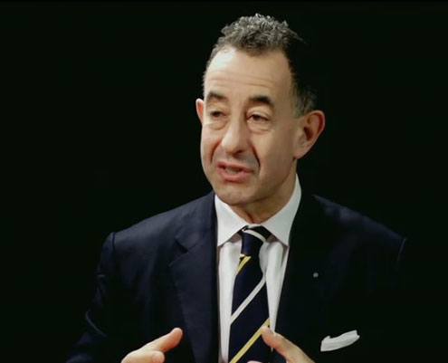 Colin Bailey as he appeared in video shown at announcement of his directorship