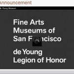 Fine Arts Museums of San Francisco to Livestream Director Announcement
