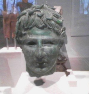 Bronze Head of a Young Man, late Hellenistic, ca. 2nd-1st century B.C., lent by Judy and Michael Steinhardt Photo by Lee Rosenbaum