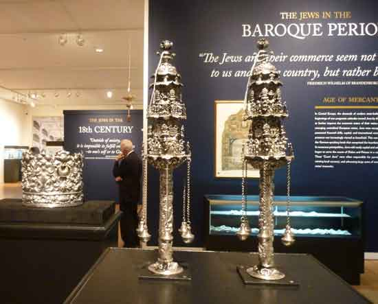 Silver Torah crown and Torah finials, Venice, early 18th century (est. $400,000-600,000) Photo by Lee Rosenbaum