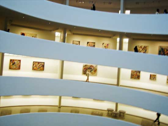 View from across the rotunda of Guggenheim's 2009 Kandinsky installation Photo by Lee Rosenbaum