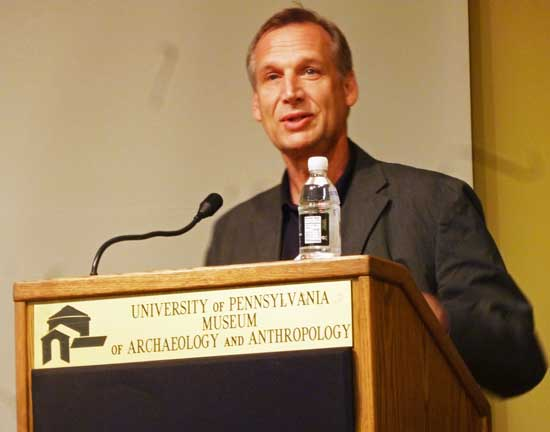 Timothy Rub speaking on cultural-property issues at Penn Museum Photo by Lee Rosenbaum
