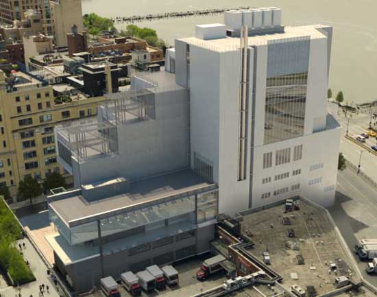 Rendering of the north side of the new Whitney