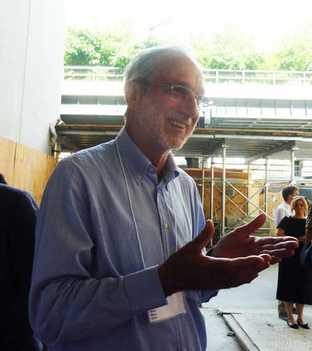 Renzo Piano at the Downtown Whitney press preview Photo by Lee Rosenbaum