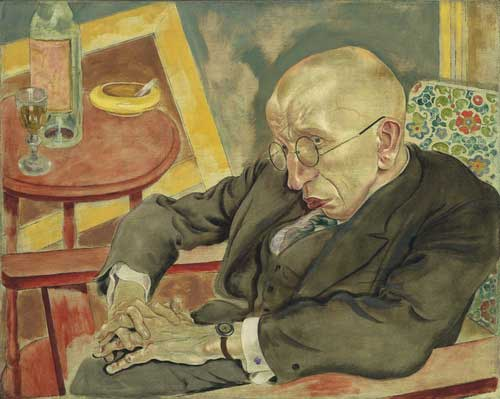 "George Grosz, ""The Poet Max Herrmann-Neisse,"" 1927, Museum of Modern Art"